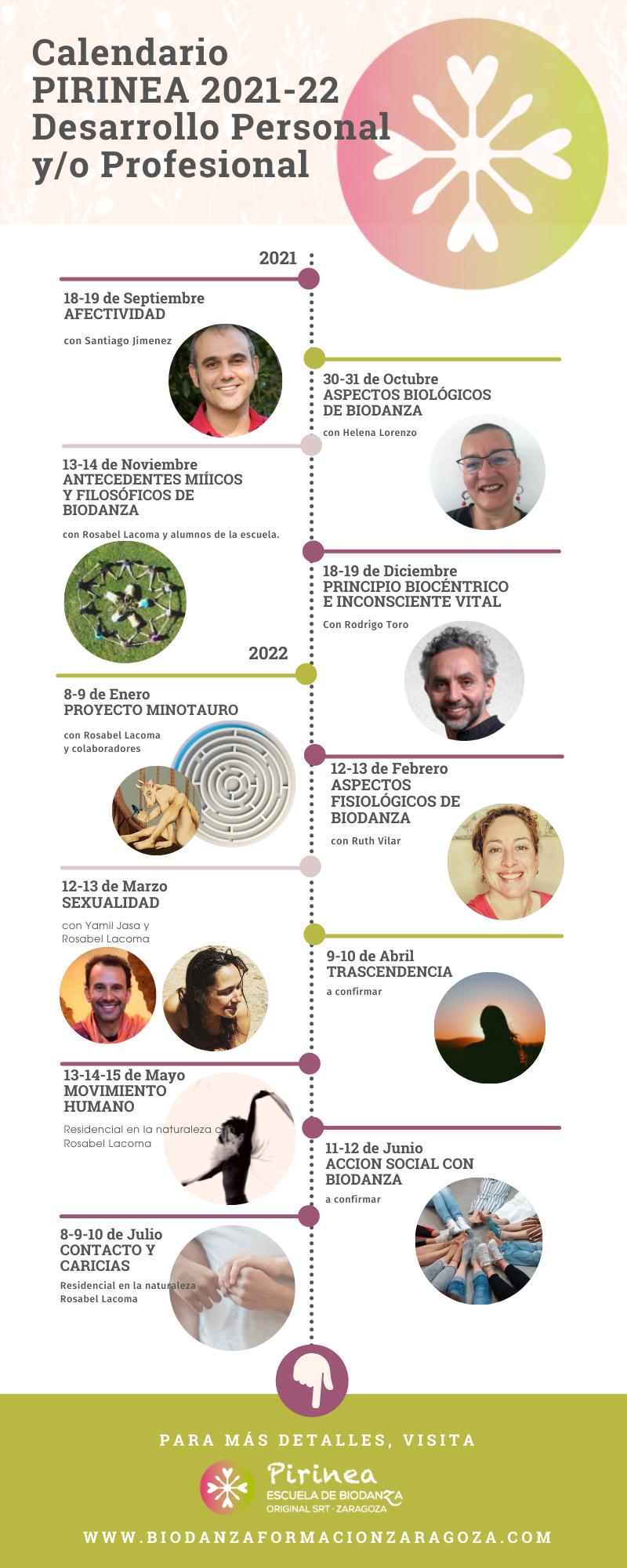 Calendario 2021-22 Biodanza Pirinea